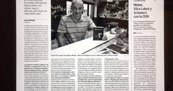Entrevista a Carlos Erice en Diario de Navarra