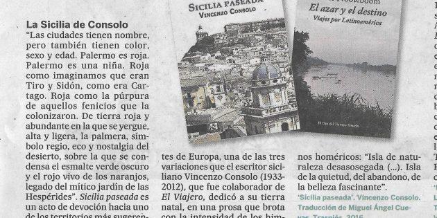 """""""Sicilia paseada"""" en El viajero, del diario El País"""