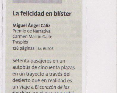 """""""La felicidad en blíster"""" en la revista Mercurio"""