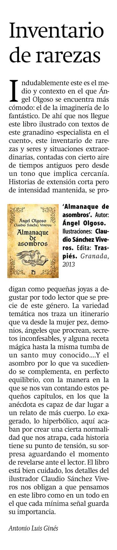 Ángel Olgoso ilustrado por Claudio Sánchez Viveros