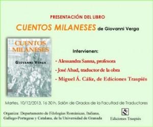 Cuentos milaneses, de Giovanni Verga